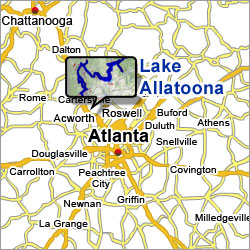 Lake Allatoona Map