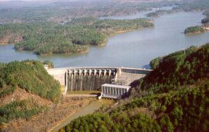 Lake Allatoona Dam ~ Photo courtesy of US Army Corps of Engineers at Allatoona Lake
