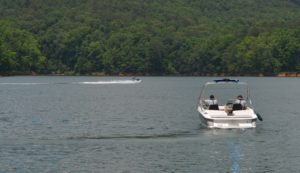 DNR Rangers on patrol at Lake Allatoona. ~~ Photograph by Robert Sutherland