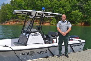 DNR Ranger First Class Brooks Varnell is a first-class law enforcement officer.   ~~ Photograph by Robert Sutherland