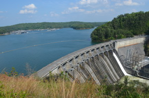 The scenic vista from the Lake Allatoona Dam overlook. ~~ Photograph by Robert Sutherland