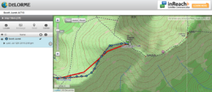 Scott Jurek's Delorme Tracking Device Screenshot