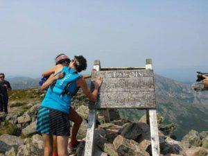 Scott Jurek kissing his wife Jenny at journey's end. ~~ From Scott Jurek's Facebook Page