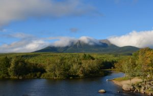The End of the Appalachian Trail Atop Katahdin in Maine ~~ Photograph by Robert Sutherland