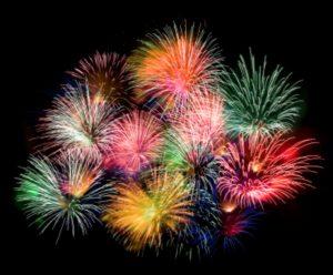 Glorious fireworks!