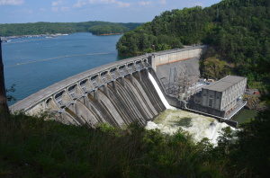 The USACE Lake Allatoona Dam ~~ Photograph by Robert Sutherland
