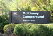 McKinney Campground is one of the USACE campgrounds open for autumn camping.