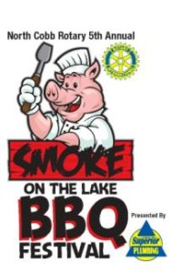 Smoke on the Lake BBQ Festival at Cauble Park on May 9th & 10th 2014